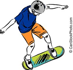 skateboard A illustration