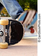 Skateboard abstract - Interesting detail of a skateboard...