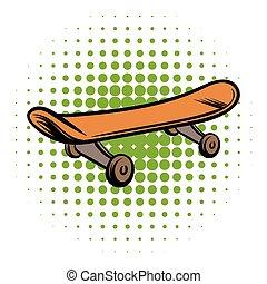 Skateboard comics style icon