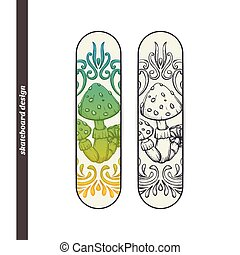 Skateboard Design Abstract Mushroom One - Design skateboard...