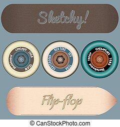 skateboard design elements vector