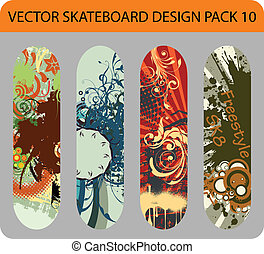 Skateboard design pack 10