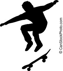 Skateboard freestyle jumping