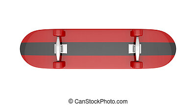 Skateboard isolated on white