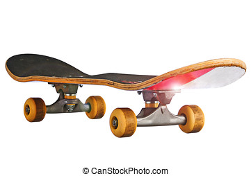 Skateboard isolated on white with a clipping path