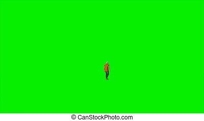 skateboard, jeune, contre, écran, vert, 4k, caucasien