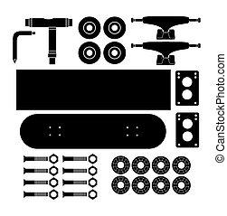 skateboard kits - silhouette