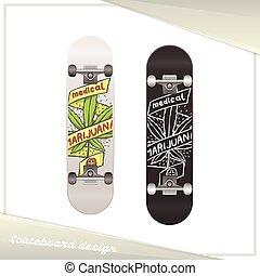skateboard, medisch, acht, marihuana