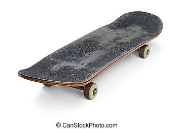 Skateboard - Old used skateboard isolated on  white