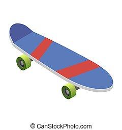 Skateboard on white background. Vector illustration. EPS 10.