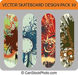 skateboard, pacco, disegno, 10