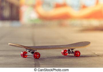 skateboard, patin, Parc