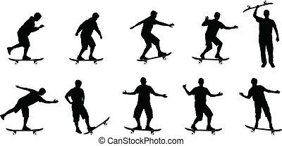 skateboard silhouettes