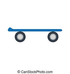 skateboard sport extreme isolated icon