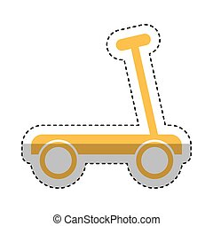 skateboard toy isolated icon