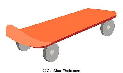 Skateboard vector cartoon illustration.