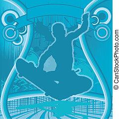 Skateboarder Grunge Poster