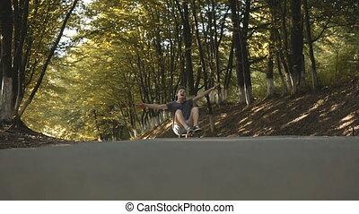 Skateboarder Having Fun