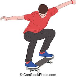 skateboarder, ilustracja