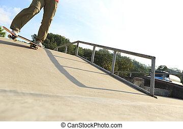 jambes skatepark rampe skateboard quitation skateboarder. Black Bedroom Furniture Sets. Home Design Ideas