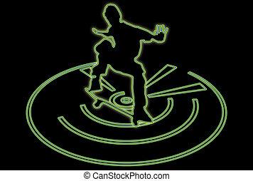 skateboarder, multiglow