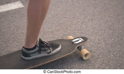 Skateboarder on the Road
