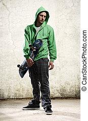 skateboarder, petimetre, fresco