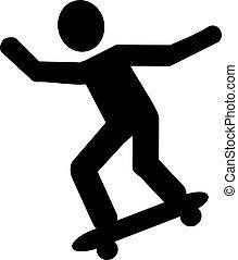 Skateboarder pictogram