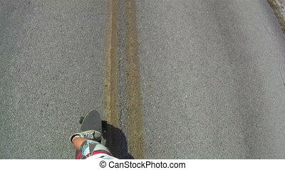 Skateboarder Point of View - skateboarding skateboarder...