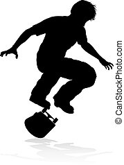 Skateboarder Skater Silhouette - Very high quality and...