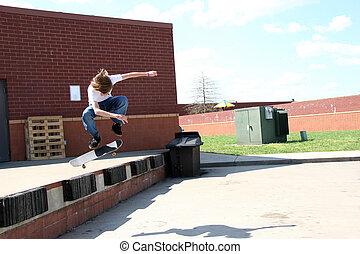 skateboarder, zerstreut