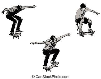 skateboarders - vector