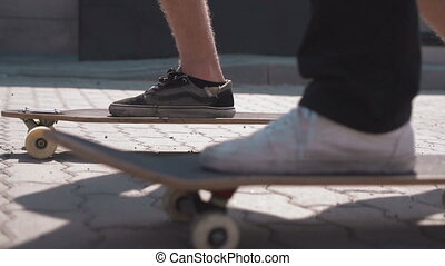 Skateboarders on the Street