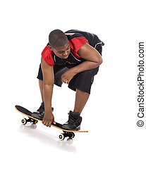 skateboardfahren, niedrig