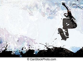 Skateboarding Grunge Layout - A grungy skateboarding layout...