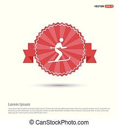 Skateboarding Icon - Red Ribbon banner