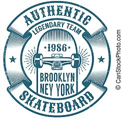 Skateboarding logo in retro style