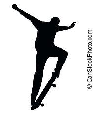 Skateboarding Nosegrind - Skateboarding Skater do Nosegrind...