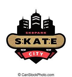 Skateboarding park logo, emblem.