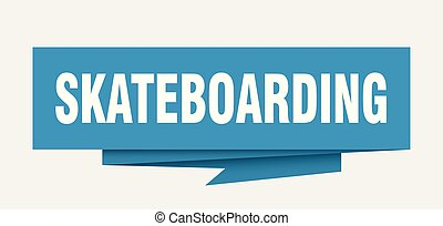 skateboarding sign. skateboarding paper origami speech...
