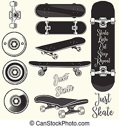 skateboards, vetorial, quotes.eps, cobrança