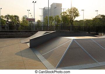 skatepark, helling