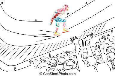skater., スピード