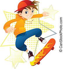 Skater Boy - Skateboarder Boy in action.