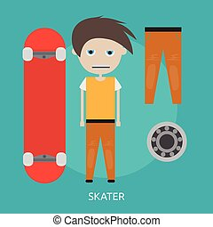 Skater Conceptual illustration Design