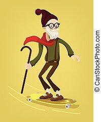 skater, grootvader