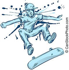 skater hand draw