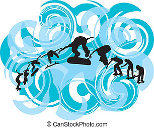 Skater illustration. Vector illustr