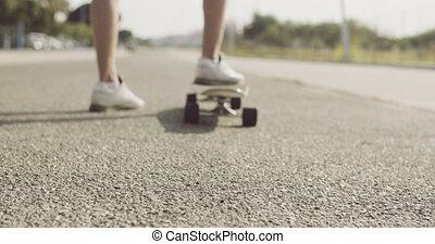 Skater Man Waiting for Someone at the Street - Skater Man...