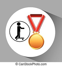 skater medal sport extreme graphic
